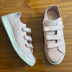 Adidas Rare Pink Suede Stan Smith Velcro Sneakers